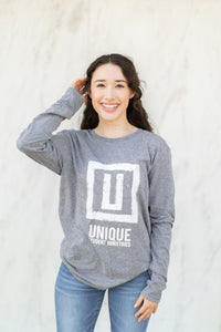 UNIQUE Light Grey long sleeve