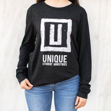 Load image into Gallery viewer, UNIQUE Dark Heather long sleeve