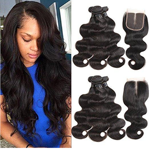 High Quality Body wave Peruvian Hair with Closure