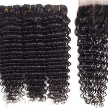 Load image into Gallery viewer, High Grade Peruvian Deep wave 3 Bundles and Closure