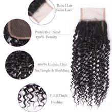 Load image into Gallery viewer, Peruvian Kinky Curly Hair 3 Bundles and Closure