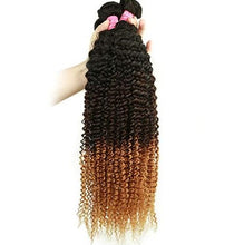 Load image into Gallery viewer, 1B/4/27 Kinky Curly Hair 3 Bundles