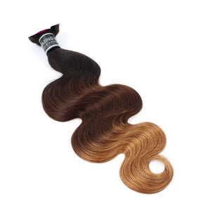 1B/4/27 Ombré Remy Hair 1 Bundle