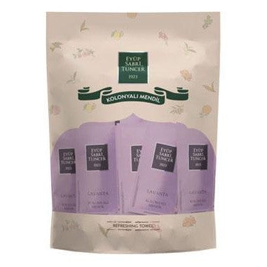 "Wet Wipe Refreshment Towel ""LAVENDER"" Scent by EyupSabri Tuncer (50 or 100 pack)"