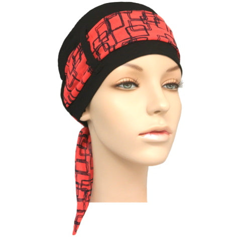 black cap + 4 scarves
