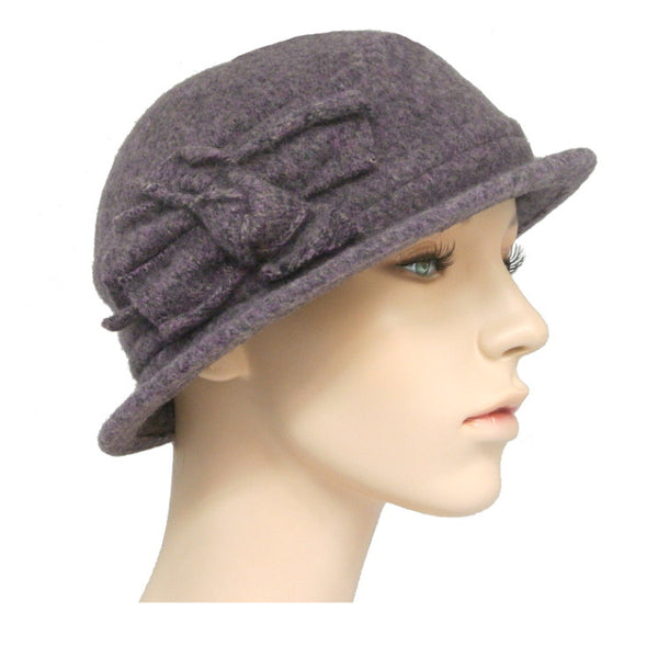 winter cloche with side knot