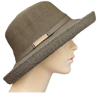 medium brim sun hat with sun protective lining
