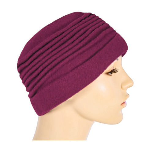wool pleated beanie
