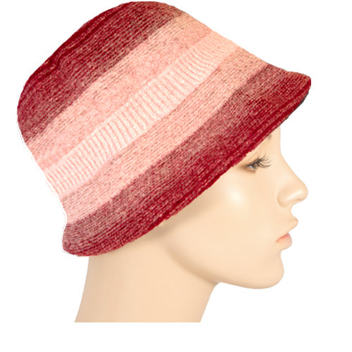 striped wool bucket hat
