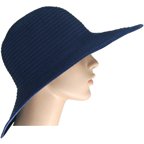 navy ribbon sun hat