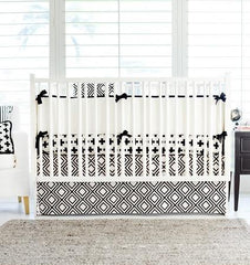 Modern Black and White Crib Bedding Collection