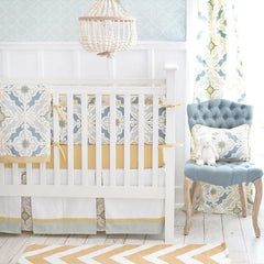 Starburst in Gold Crib Bedding Collection