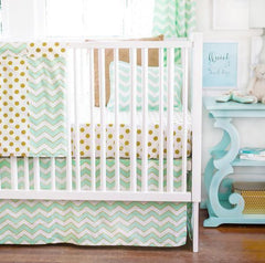 Gold Rush in Mist Crib Bedding Collection