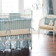 Velvet Aqua Velvet Baby in Aqua Crib Bedding Collection