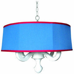 Charn and Company Henry Drum Chandelier in Chambray