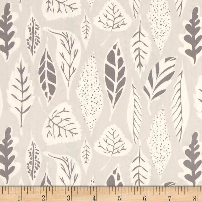 Hello Bear Leaflet Eucalyptus Fabric by the Yard | 100% Cotton-Fabric-Eucalyptus-Jack and Jill Boutique