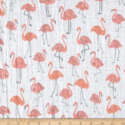 Tickled Pink Embrace® Coral | Double Gauze Cotton-Fabric-Jack and Jill Boutique