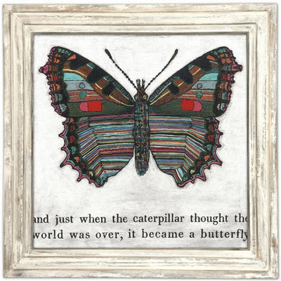 "ART PRINT - Butterfly-Art Print-White Wash - 36"" x 36""-Jack and Jill Boutique"