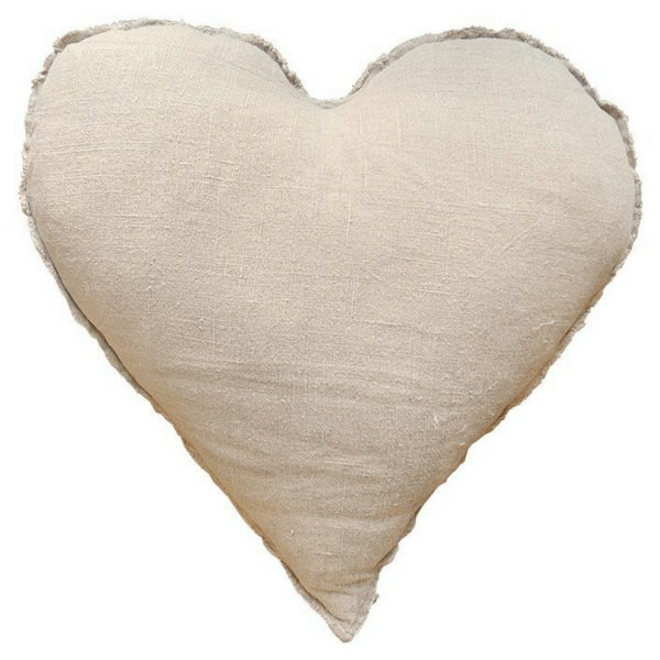 Heart Shaped Pillow With Frayed Edges-Pillow-Jack and Jill Boutique