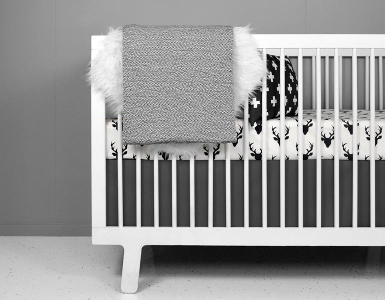 Deer Crib Bedding Set Modern Woodland Design-Crib Bedding Set-Jack and Jill Boutique