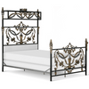 Corsican Iron Canopy Bed 41632 | French Canopy Bed with Angels & Urn