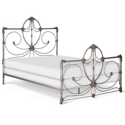 Corsican Iron Standard Bed 41766 | Standard Bed with Scrolls
