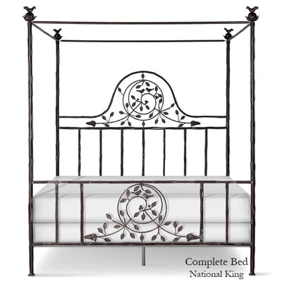 Corsican Iron Canopy Bed 2620 | Straight Canopy Twiggy Bed