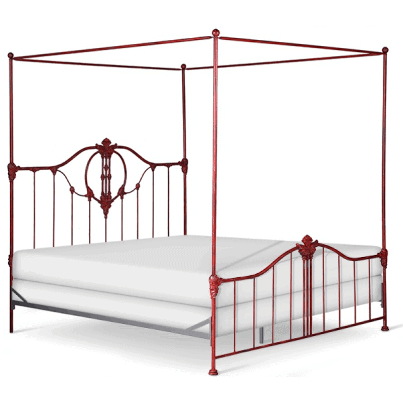 Corsican Iron Canopy Bed 42918 | Bastia Canopy Bed-Canopy Bed-Jack and Jill Boutique