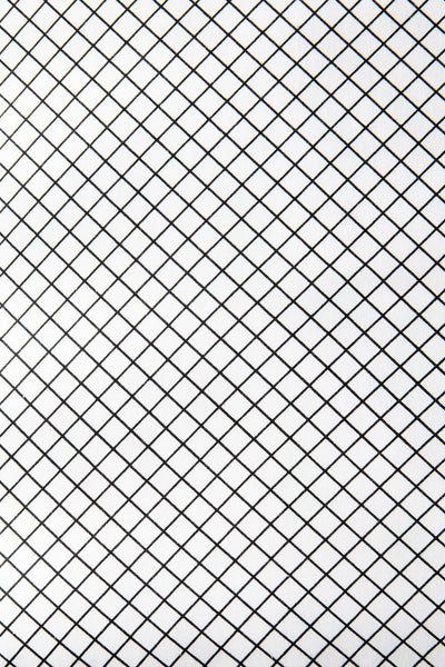 Grid Crib Bedding Set Black and White