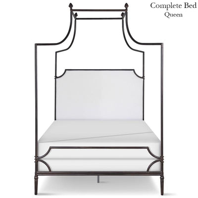 Corsican Iron Canopy Bed 43116 | Olivia Canopy Bed with Upholstered Headboard