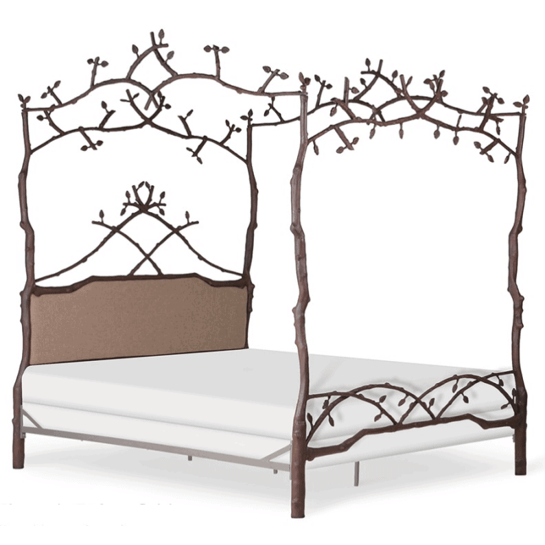 Corsican Iron Canopy Bed 43142 | Forest Dreams Canopy Bed with Upholstery-Canopy Bed-Jack and Jill Boutique