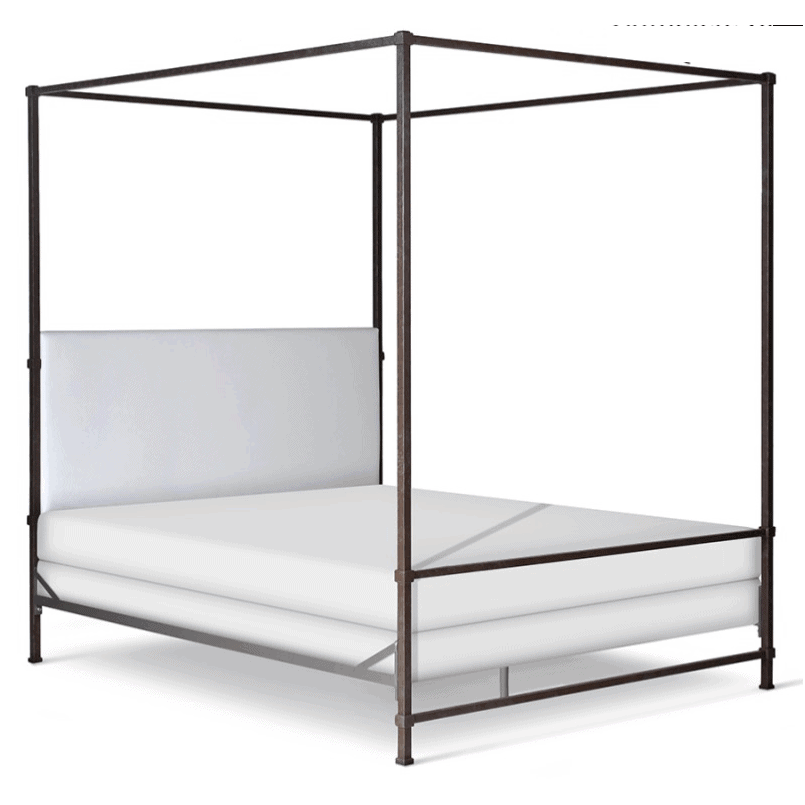 Corsican Iron Canopy Bed 43808 | Upholstered Canopy Bed-Canopy Bed-Jack and Jill Boutique
