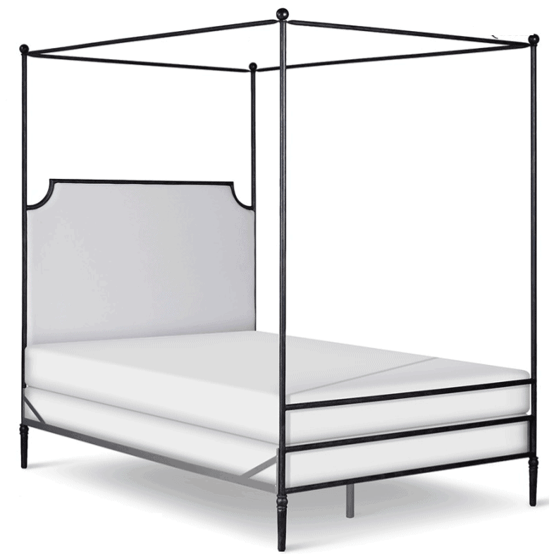 Corsican Iron Canopy Bed 43428 | Straight Canopy Olivia Bed-Canopy Bed-Jack and Jill Boutique