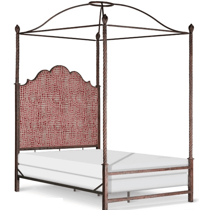 Corsican Iron Canopy Bed 43470 | Upholstered Double Canopy Bed-Canopy Bed-Jack and Jill Boutique