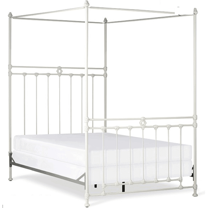 Corsican Iron Canopy Bed 43640 | Straight Canopy Williamsburg Bed-Canopy Bed-Jack and Jill Boutique