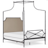Corsican Iron Canopy Bed 43706 | Hammered Olivia Canopy Bed