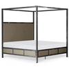Corsican Iron Canopy Bed 43714 | Contemporary Canopy Bed