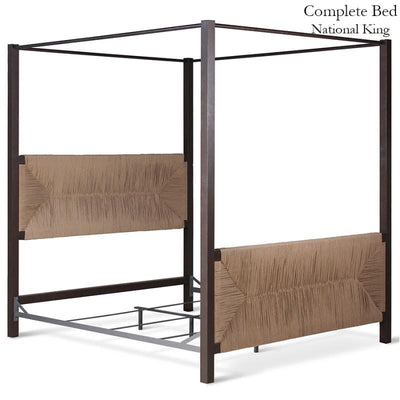 Corsican Iron Canopy Bed 43784 | Straight Canopy Bed