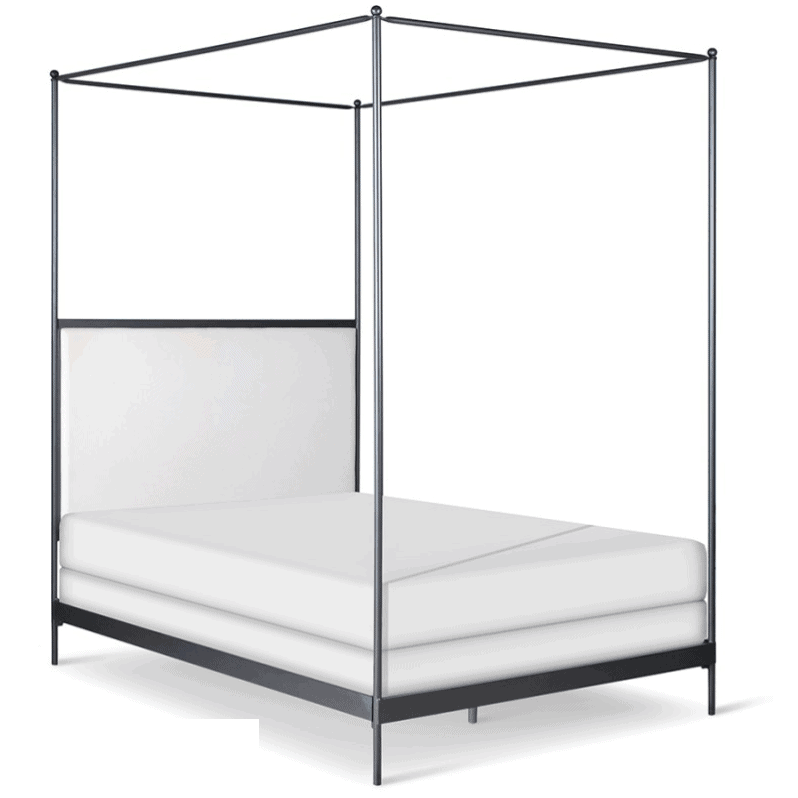 Corsican Iron Canopy Bed 43788 | Upholstered Canopy Bed-Canopy Bed-Jack and Jill Boutique