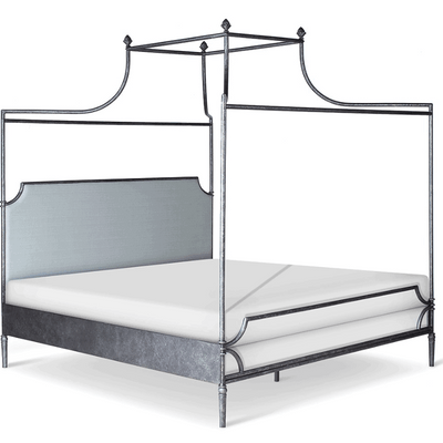 Corsican Iron Canopy Bed 43806 | Upholstered Olivia Double Canopy Bed