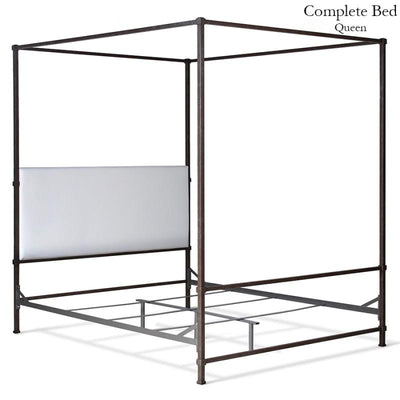 Corsican Iron Canopy Bed 43808 | Upholstered Canopy Bed