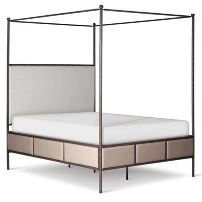 Corsican Iron Canopy Bed 43820 | Upholstered Canopy Bed