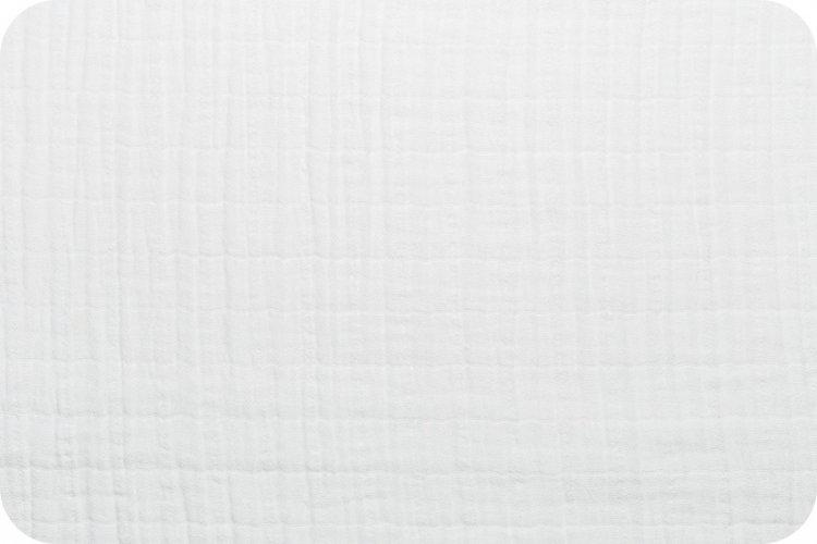 Solid Embrace Snow | Double Gauze Cotton-Fabric-Jack and Jill Boutique