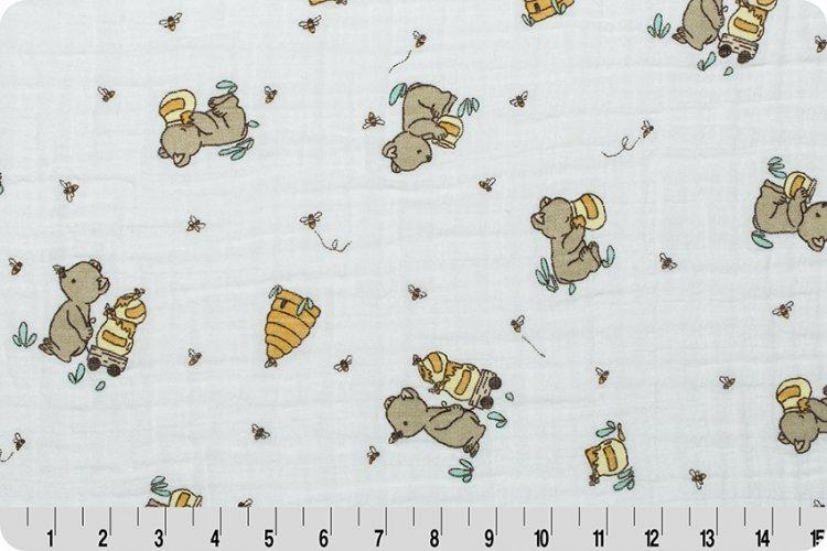 SMD Bear Hugs Embrace® Banana | Double Gauze Cotton-Fabric-Fabric By Yard-Jack and Jill Boutique