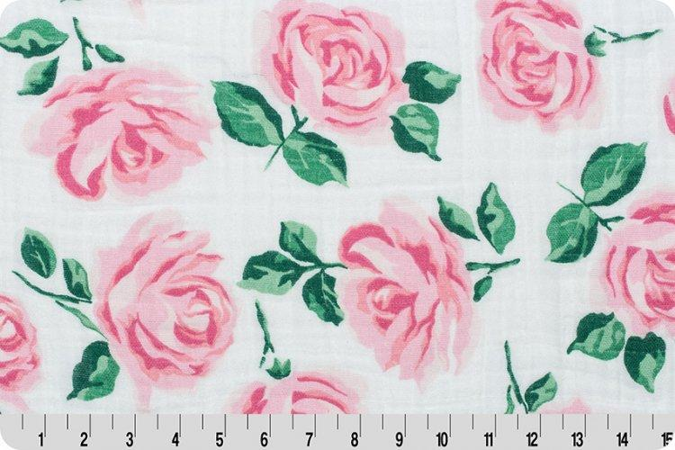 Rose Garden Embrace® Pink | Double Gauze Cotton-Fabric-Fabric By Yard-Jack and Jill Boutique