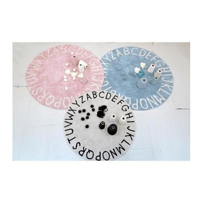 Round ABC Machine Washable Rugs - 5 Feet - Cotton-Rugs-Jack and Jill Boutique