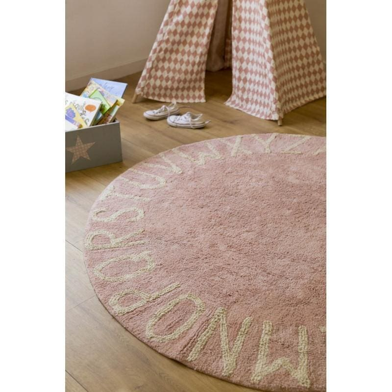 Round ABC Machine Washable Rugs