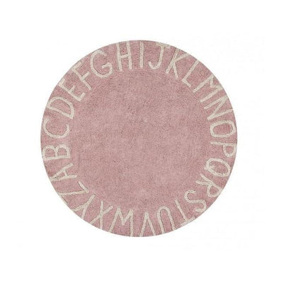 Round ABC Machine Washable Rugs - 5 Feet - Cotton-Rugs-Vintage Nude-Natural-Jack and Jill Boutique