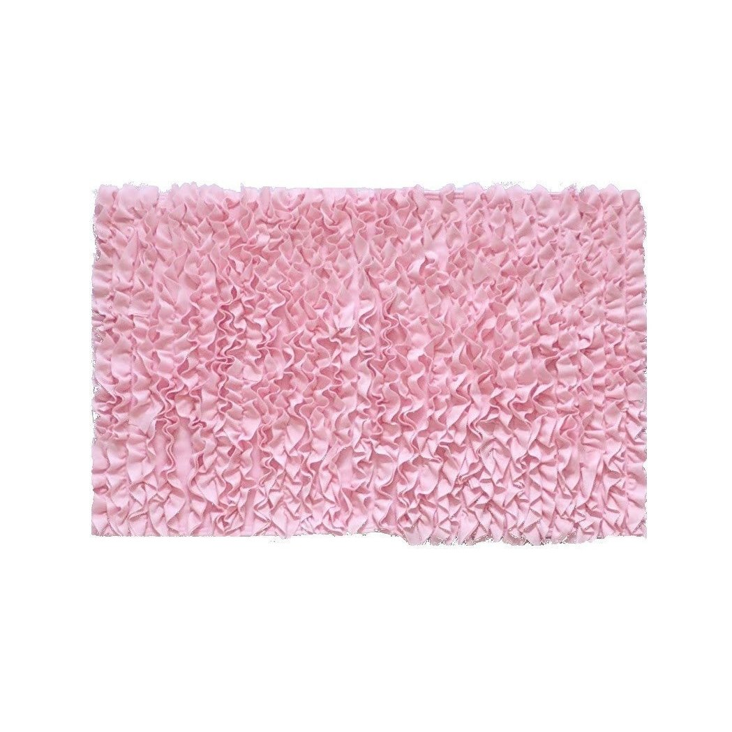 5 Ft Round Light Pink Ruffle Rug