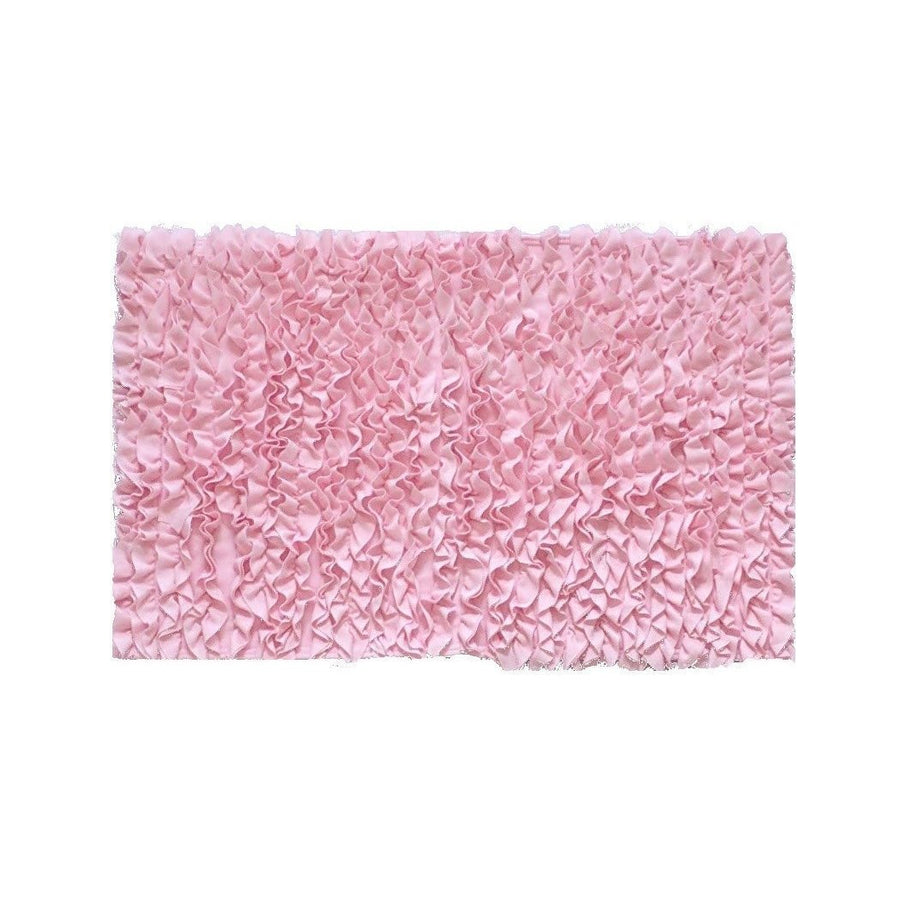 5 Ft Round Light Pink Ruffle Rug - Nursery Rugs